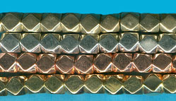 Silver plated Brass Corner-less Cubes 3MM